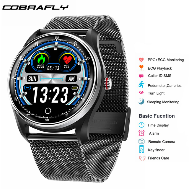 Cobrafly NEW MX9 ECG+PPG Smart Watch Men with electrocardiogram display heart rate blood pressure Smart Band Fitness Tracker