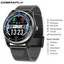 Cobrafly nowy MX9 ekg + PPG inteligentny zegarek mężczyzn z elektrokardiogram wyświetlacz tętno ciśnienie krwi inteligentna opaska opaska monitorująca aktywność fizyczną