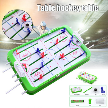 Tabletop Game For Boys Mini Rod Hockey Table Top Accessories Family Play Fun Game Set FJ88