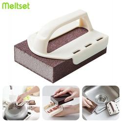 Magic Carborundum Sponge Melamine Emery Sponge Pot Brush for Removeing Rust Pan Descaling Clean Rub Kitchen Gadget