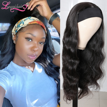 LQ Hair Body Wave Wig Human Hair Headband Wig Scarf Wig Natural Color Brazilian Remy Human Hair Wig Glueless Wig for Women