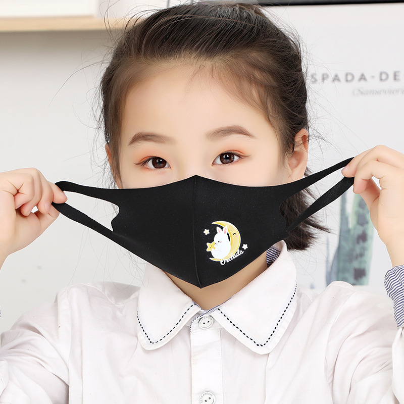 3pcs/lot Thin Section Cartoon Ice Silk Protective Mask Breathable Sun Protection Sun Star Mouth Mask  Anti Dust Face Mask