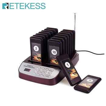 Retekess T113S Restaurant Pager Wireless Paging Queuing System 16 Call Coaster Pagers Buzzer 999 Channel Restaurant Equipments - DISCOUNT ITEM  34% OFF All Category