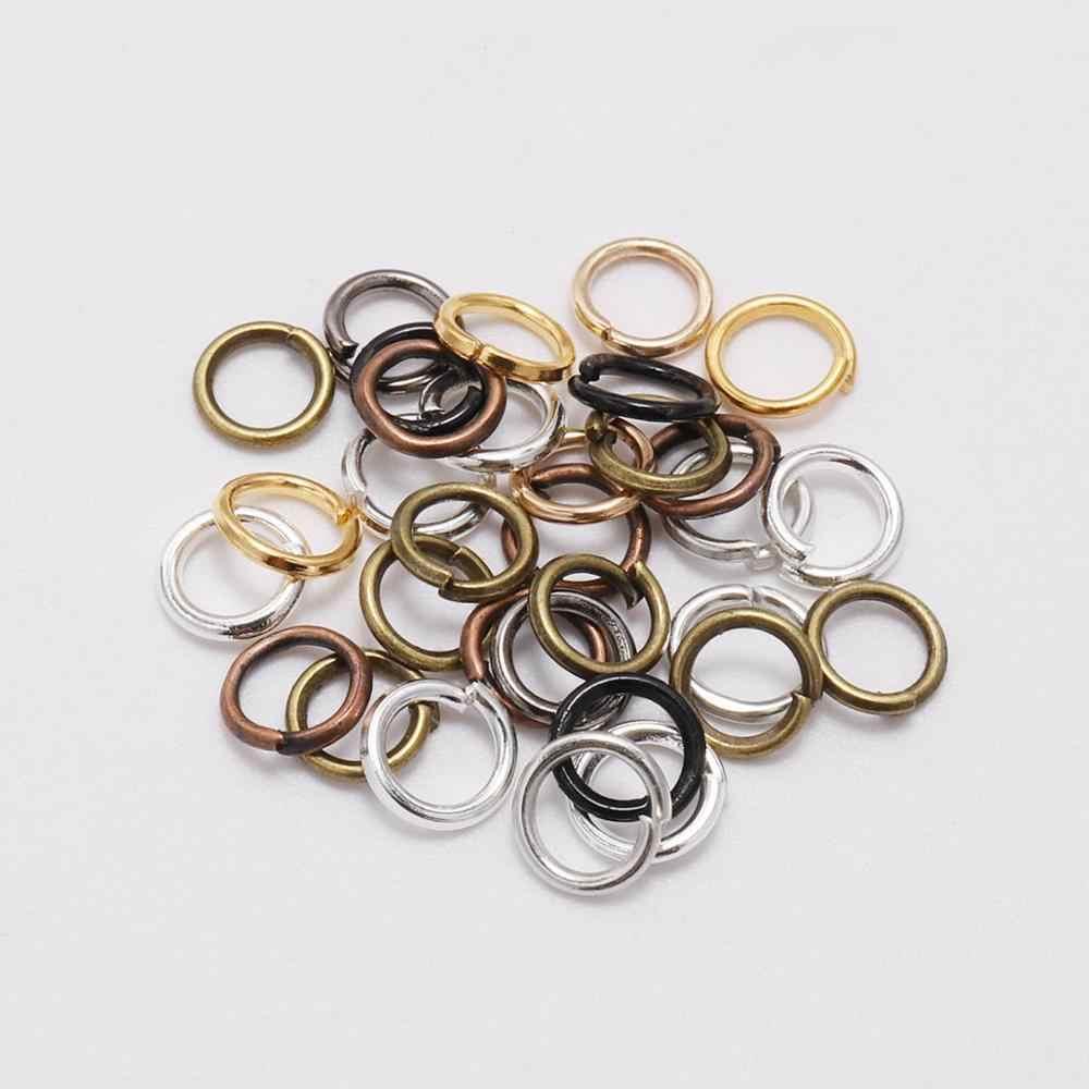 200 stks/partij 4 5 6 8 10 mm Jump Ringen Zilveren Split Rings Connectors Voor Diy Sieraden Vinden Maken Accessoires groothandel Levert