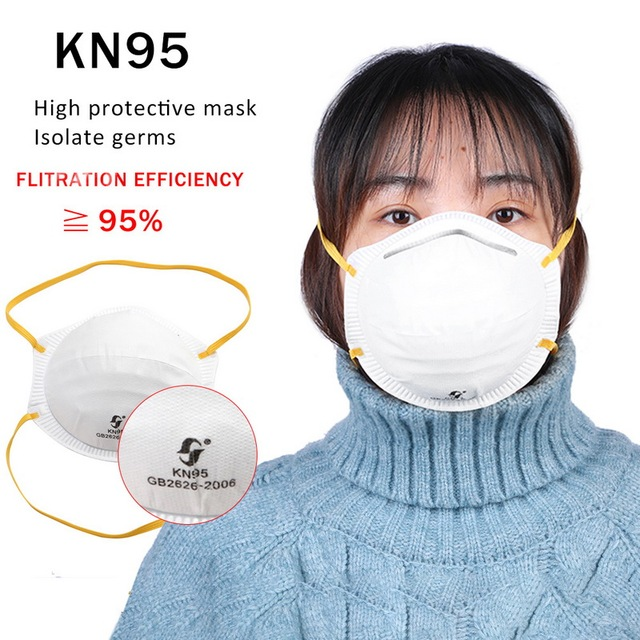 Dust Mask Antivirus flu anti infection Particulate Respirator virus Anti-fog PM2.5 Protective Mask Safety Masks In Stock KN95 1