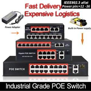 Poe-Switch Poe-Cameras Rj45-Port 10/100mbps with 48V Standardized IEEE Af/at