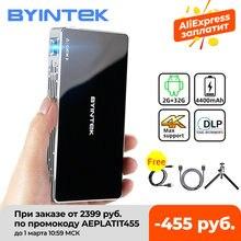Byintek P10 smart android wifi mini pico projetor de bolso portátil beamer led dlp laser móvel 1080p para smartphone 4k 3d cinema