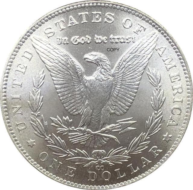 Соединенные Штаты Америки 1878 CC Morgan один доллар Монета США Liberty Мельхиор Посеребренная в Боге мы доверяем копия монеты