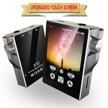 HiFi MP3 Player with Bluetooth Touch Screen Walkman Radio Portable Built-in Speaker Music Player Hi-Res Audio Recording