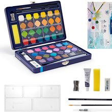 12/18/24/36/48 Colors Watercolor Paint Sets Solid Pigment with Watercolor Paper,for Beginners,School,Students and Kids