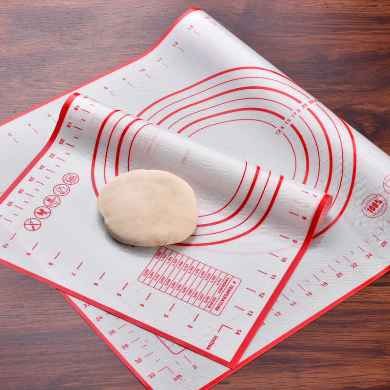 Dough Placemat Baking Fondant Cake Pad Cutting Rolling Pastry Silicone Mat