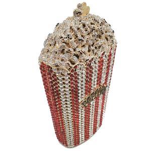 Image 2 - Boutique De FGG Donne di Cristallo di Lusso Borse Da Sera e Pochette Popcorn Minaudière Frizione Borsa Da Sposa di Cerimonia Nuziale Del Partito Della Borsa