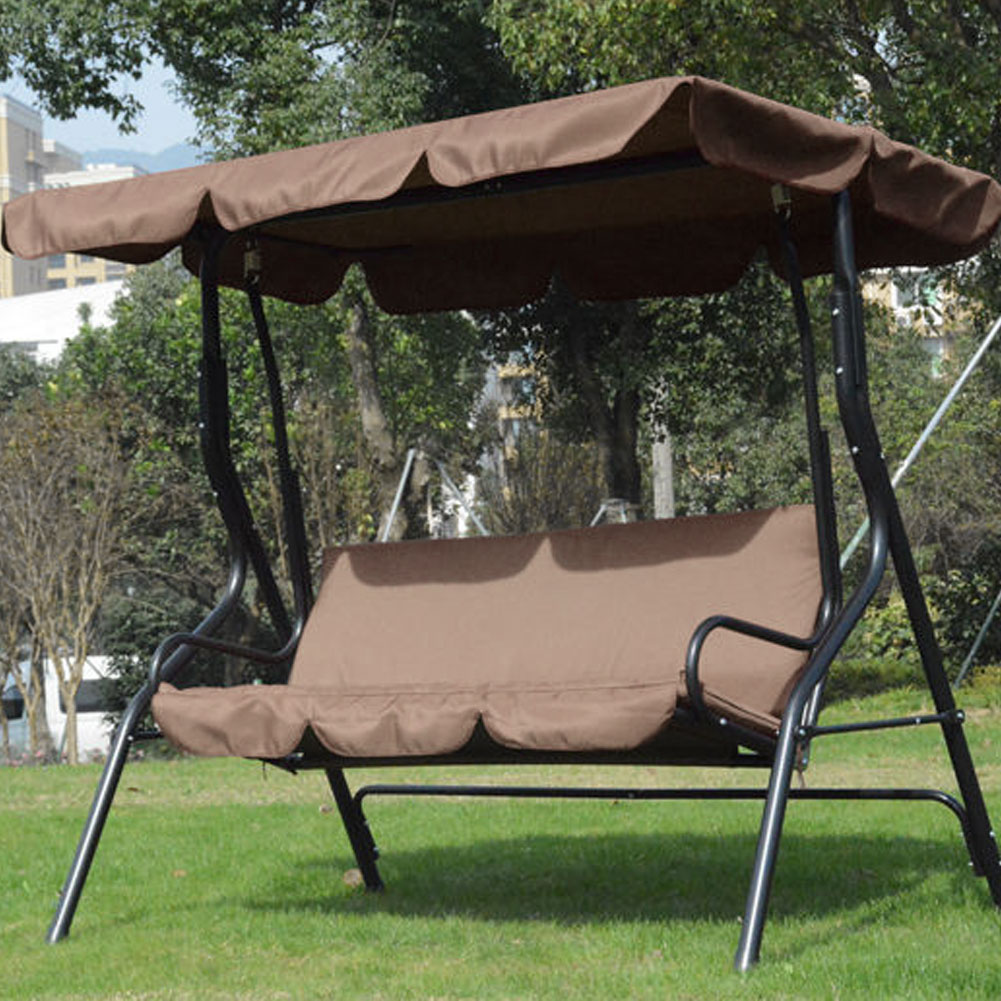 3 Seat Garden Swing Chair Cover 190T Polyester Waterproof UV Resistant Outdoor Courtyard Hammock Swing Seat Cover NO Fade