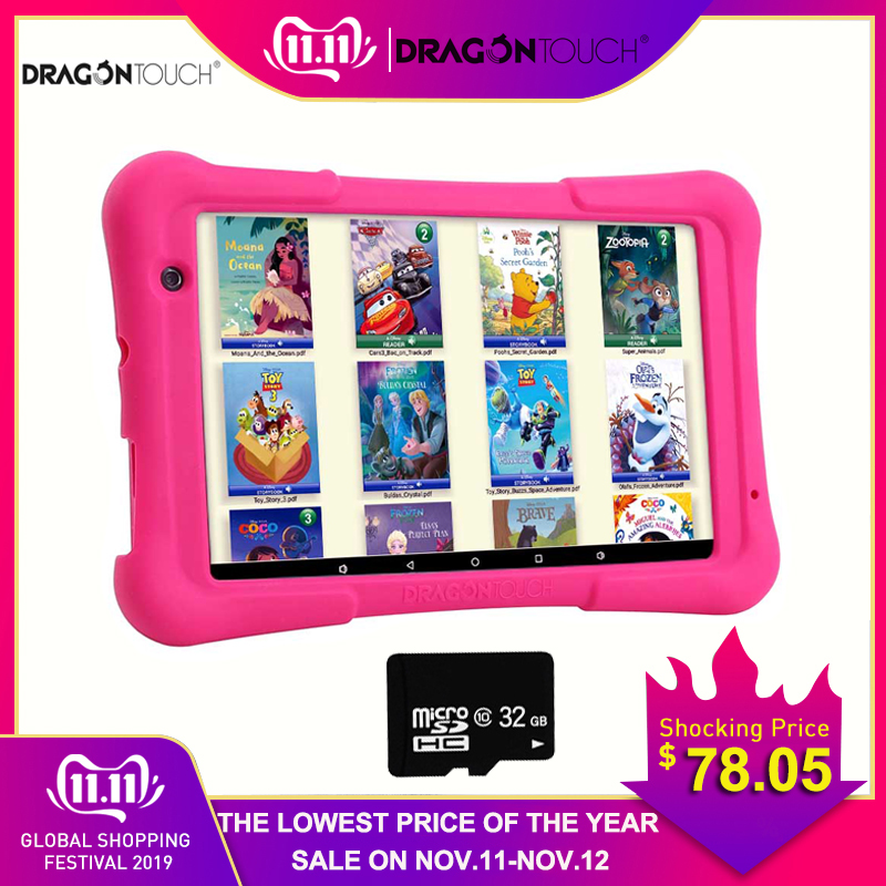 2019 drachen Touch Y80 Kinder Tablet 8 zoll HD Display Android Tablet für Kinder 16GB Quad core 1,5 GHz USB Android 8.1 tablet PC