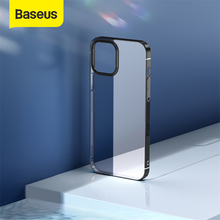 Baseus Phone Case For iPhone 12 Pro Max 12Max Transparent Plating Clear Case Coque Thin Soft TPU Back Cover For iPhone 12Pro Max