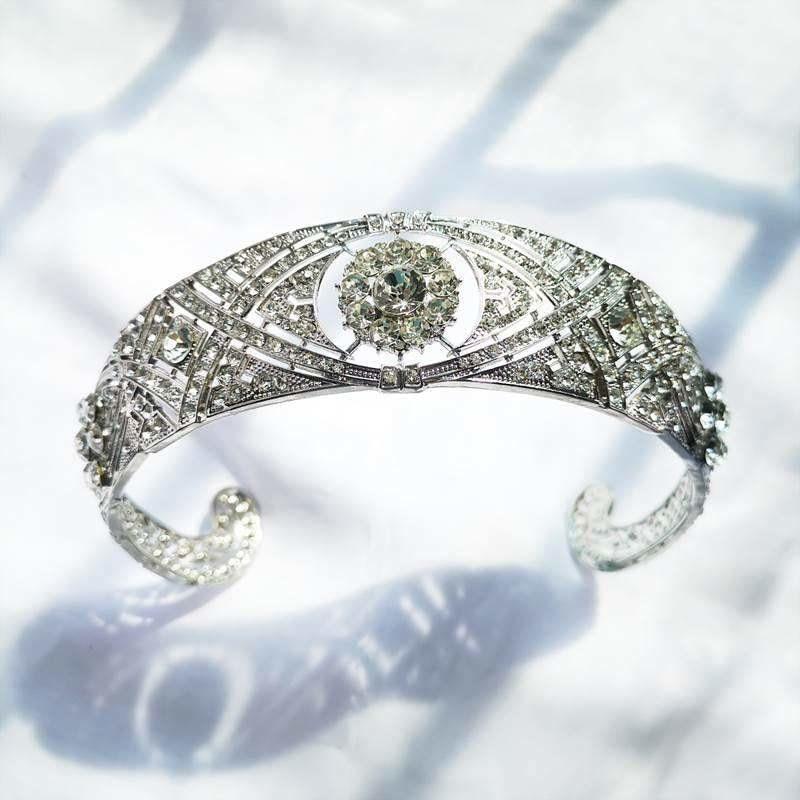 Fashion Rhinestone Crystal Bridal Crown Women Princess Crown Headband Wedding Crown Queen  Tiara Wedding Hair Accessories