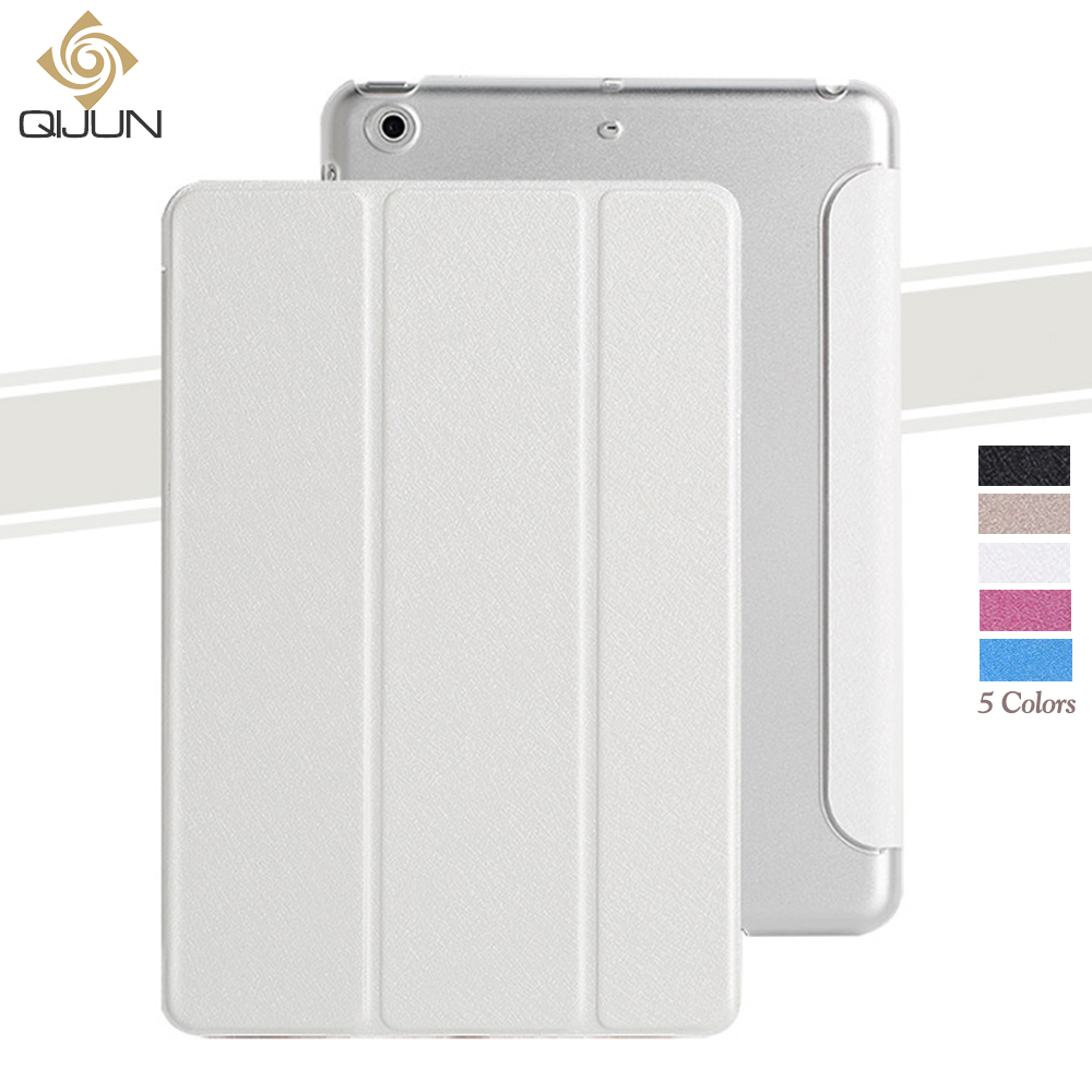 QIJUN Case For IPad 9.7 Inch 2017 PU Leather PC Back Cover Stand Auto Sleep Smart Magnetic Folio Cover For Ipad 5 Th Gen Funda