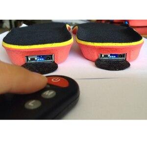 Image 5 - Лучший подарок; Новое поступление; Теплые стельки с электрическим подогревом для женщин и мужчин; Зимние ботинки с толстой стелькой и мехом; Европейские размеры 35 46 #