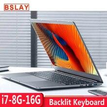Çekirdek i7 dizüstü bilgisayar 15.6 inç 8G/16G RAM 128G/256G/512G/1TB SSD dizüstü bilgisayar Metal gövde IPS arkadan aydınlatmalı klavye dizüstü oyun
