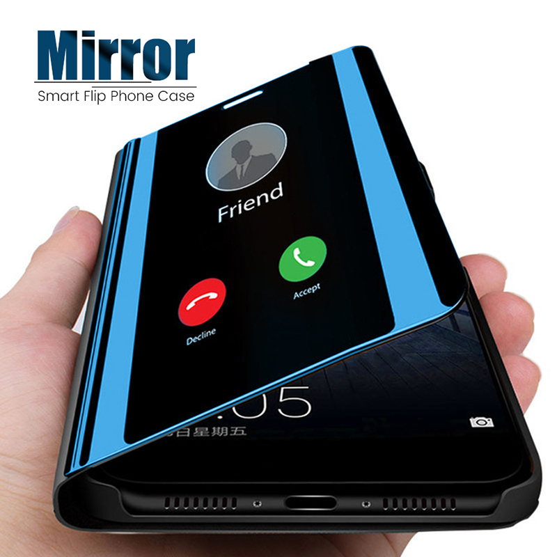 Mirror View Flip Case For Huawei Honor 8x 20 10 9 Lite Pro 8A 8S 8C Max 9X 10i 20i Play Y5 Y6 Y7 Y9 Prime P Smart 2019 Z Cover(China)