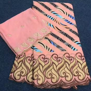 2021nowy projekt 5y wosk z koronki tkaniny + 2y Brode Riche szalik hafty afryki 100 tkaniny bawełniane koronki styl dubajski DW02 tanie i dobre opinie CN (pochodzenie) Ślub colorful dress WAX with Lace 2Ton 100 cotton 1500g 5Yard+2Yard 46~47