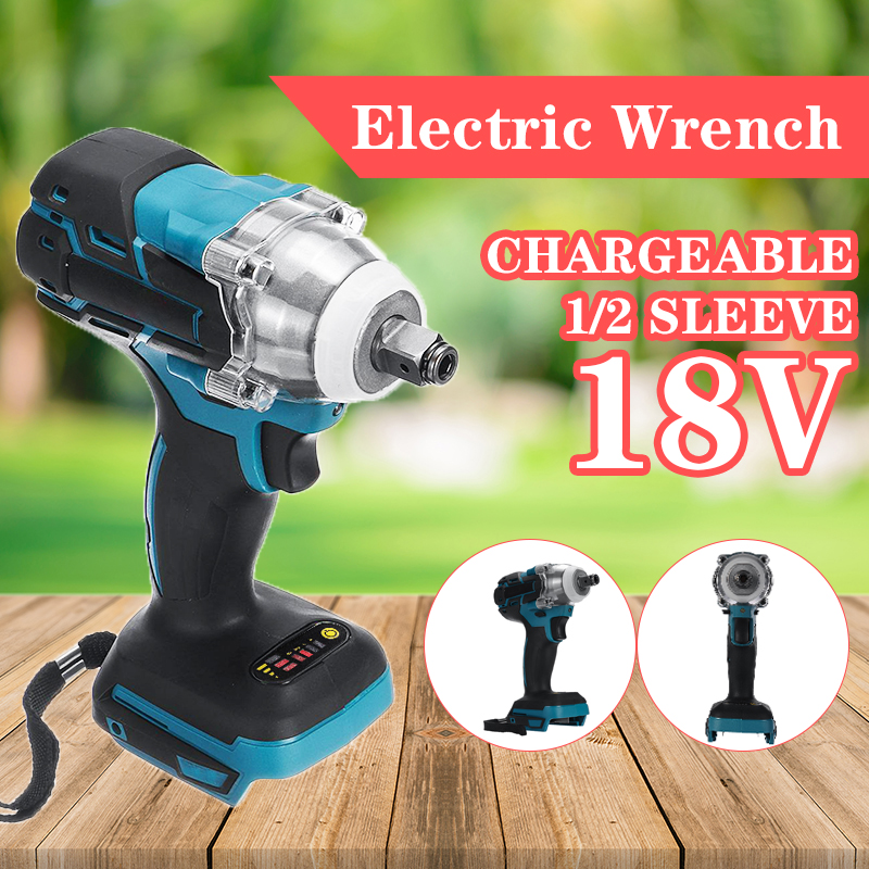 18V Impact Wrench Brushless Cordless Electric 1 2 Socket  Wrench Power Tool 520N m Torque Rechargeable For Makita Battery