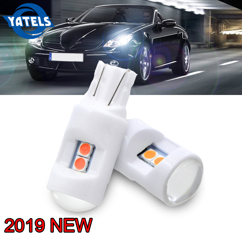 Extremely Bright White LED Car Parking Lights 168 194 2825 W5W 4-SMD-3030 Bulbs