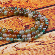 Peacock Agate Natural Stone Bead Round Loose Spaced Beads 15 Inch Strand 4/6/8/10/12mm For Jewelry Making DIY Bracelet