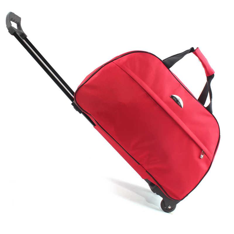 July's Lied Bagage Bag Travel Duffle Trolley Tas Rollende Koffer Trolley Vrouwen Mannen Reistassen Met Wiel Handbagage tas