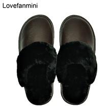 Echte Koe Lederen slippers paar indoor non slip mannen vrouwen thuis mode casual schoenen PVC zachte zolen winter 611GP