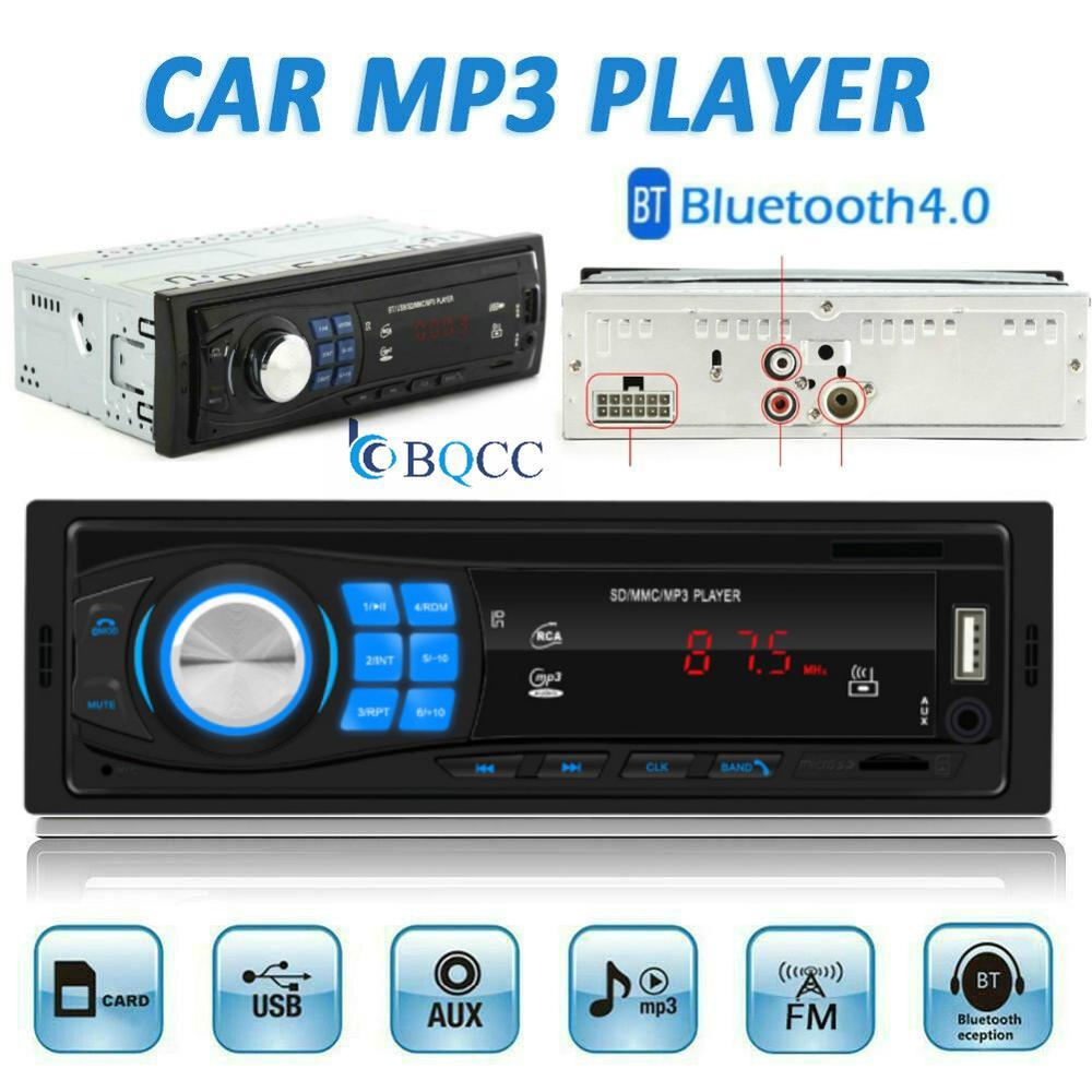 Single 1Din Car Stereo MP3 Player In Dash Autoradio Head Unit Bluetooth USB AUX FM Radio Stereo Sound Effect