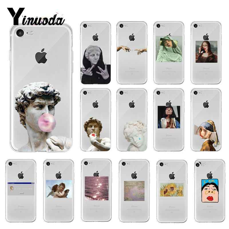 Yinuoda Lucu Seni Alternatif Patung Seni Novelty Fundas Phone Case untuk iPhone X XS Max 6 6S 7 7plus 8 8 PLUS 5 5S XR 10 Kasus