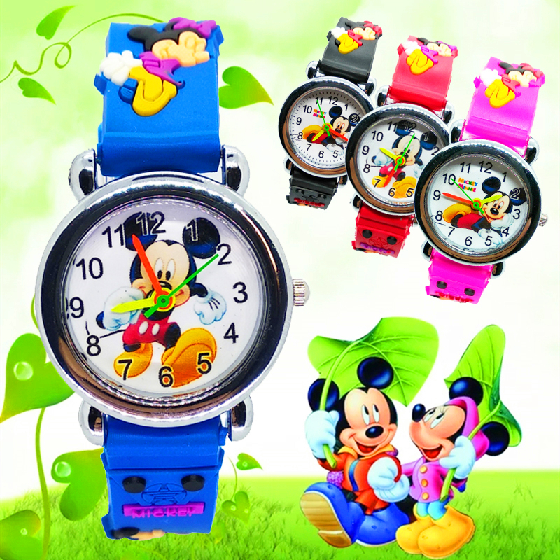 Cartoon Mickey Watch Children Girls Boys Kids Watches Silicone Quartz Digital Children Watch Birthday Gift Students Clock Reloj