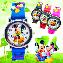 Cartoon Mickey Watch Children Girls Boys Kids Watches Silico