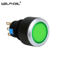 22mm Low Price  Directly Sell Style Stamping Metal Parts Illuminated Push Buttons Switch with LED