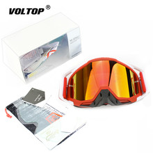 Gafas de seguridad para Motocross, Gafas para casco de motocicleta, Gafas para ciclismo, Atv, Dirt Bike, con embalaje rojo