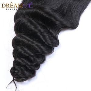 Image 5 - ברזילאי גוף גל משי בסיס סגירת משי למעלה סגר עם תינוק שיער נסתרת קשרים שיער טבעי סגירת Dreamme רמי שיער