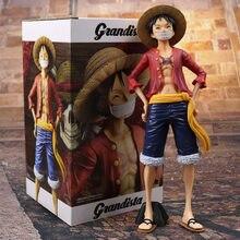 27cm Grandista jednoczęściowy małpa D Luffy figurka zabawka Grandline mężczyźni Luffy Anime Model kolekcjonerski lalki