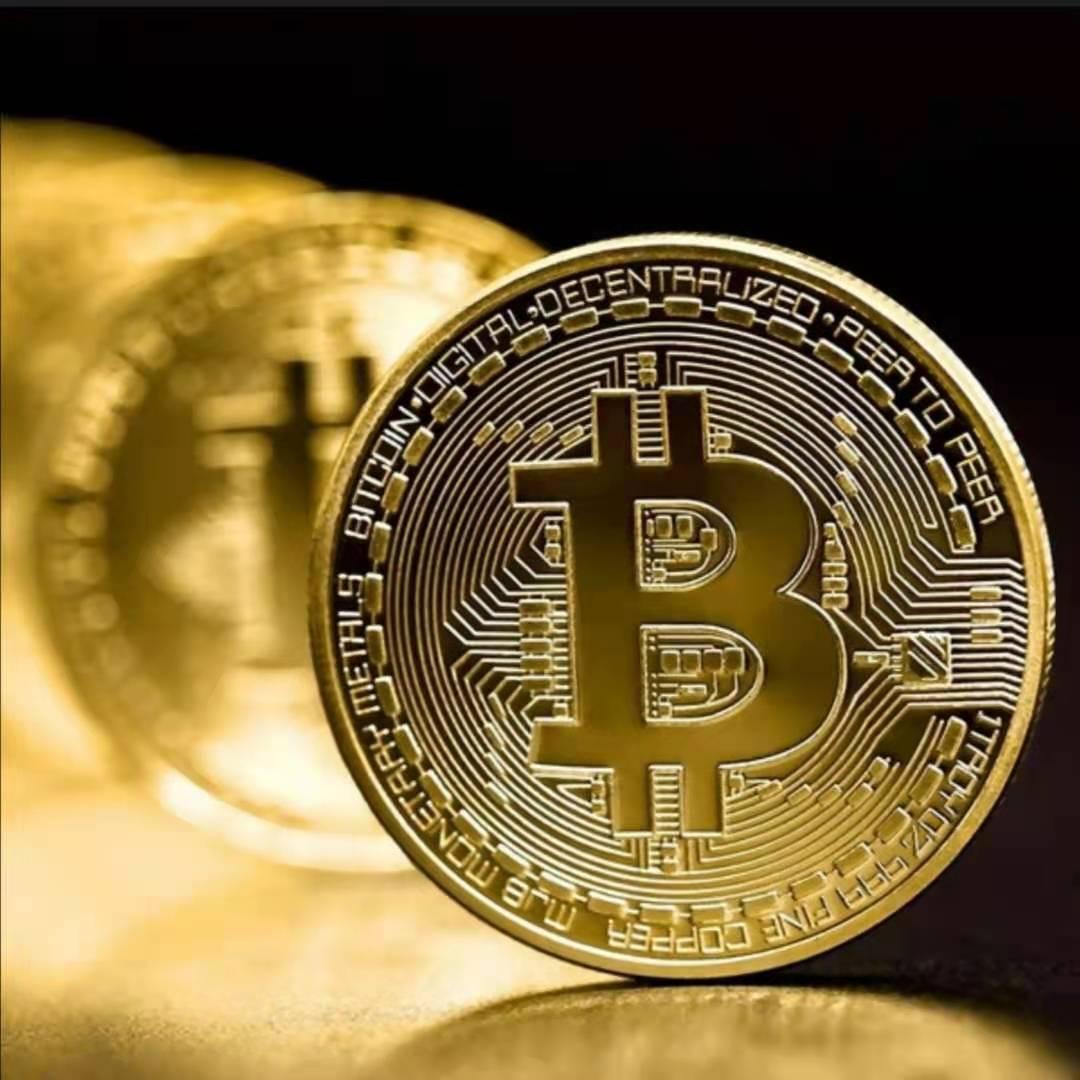10Pcs Gold Plated Bitcoin Coin Collectible Art Collection Gift Physical Commemorative Casascius Bit BTC Metal Antique Imitation 4