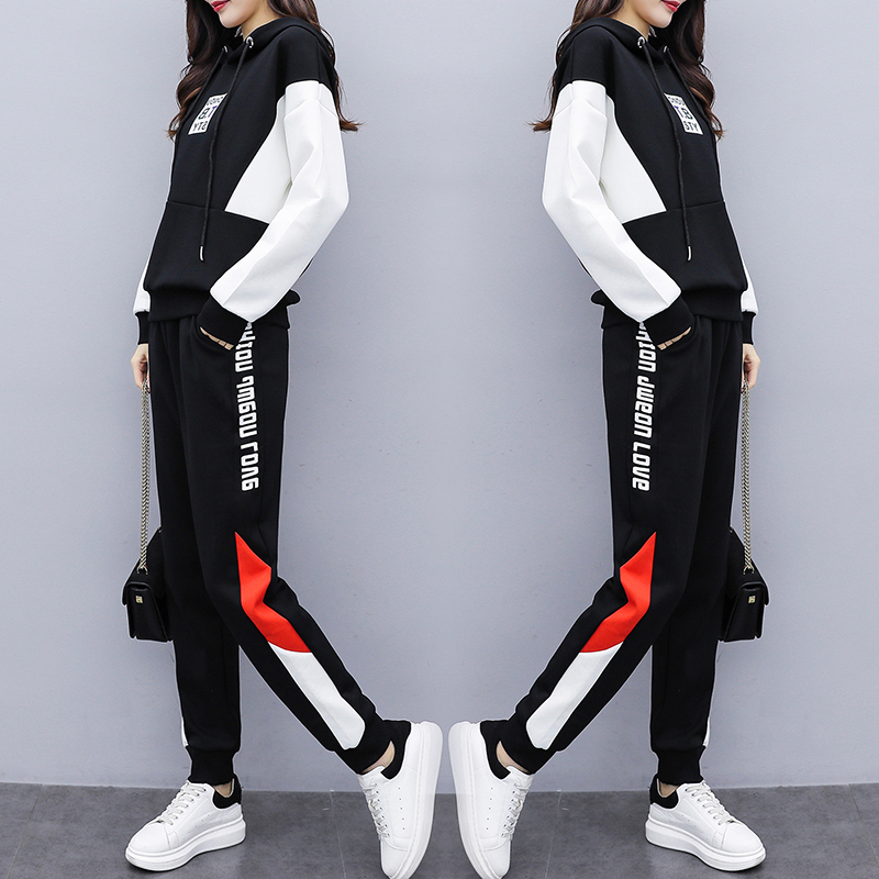Women's Hoodies Wear 2020 Spring Sports Suit 2 Piece Set Women Top And Pants Tracksuit For Women Suit