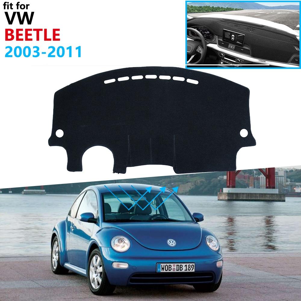 Capa de painel almofada protetora para volkswagen vw novo besouro 2003 beetle 2011 beetle a5 acessórios traço placa pára-sol tapete anti-uv