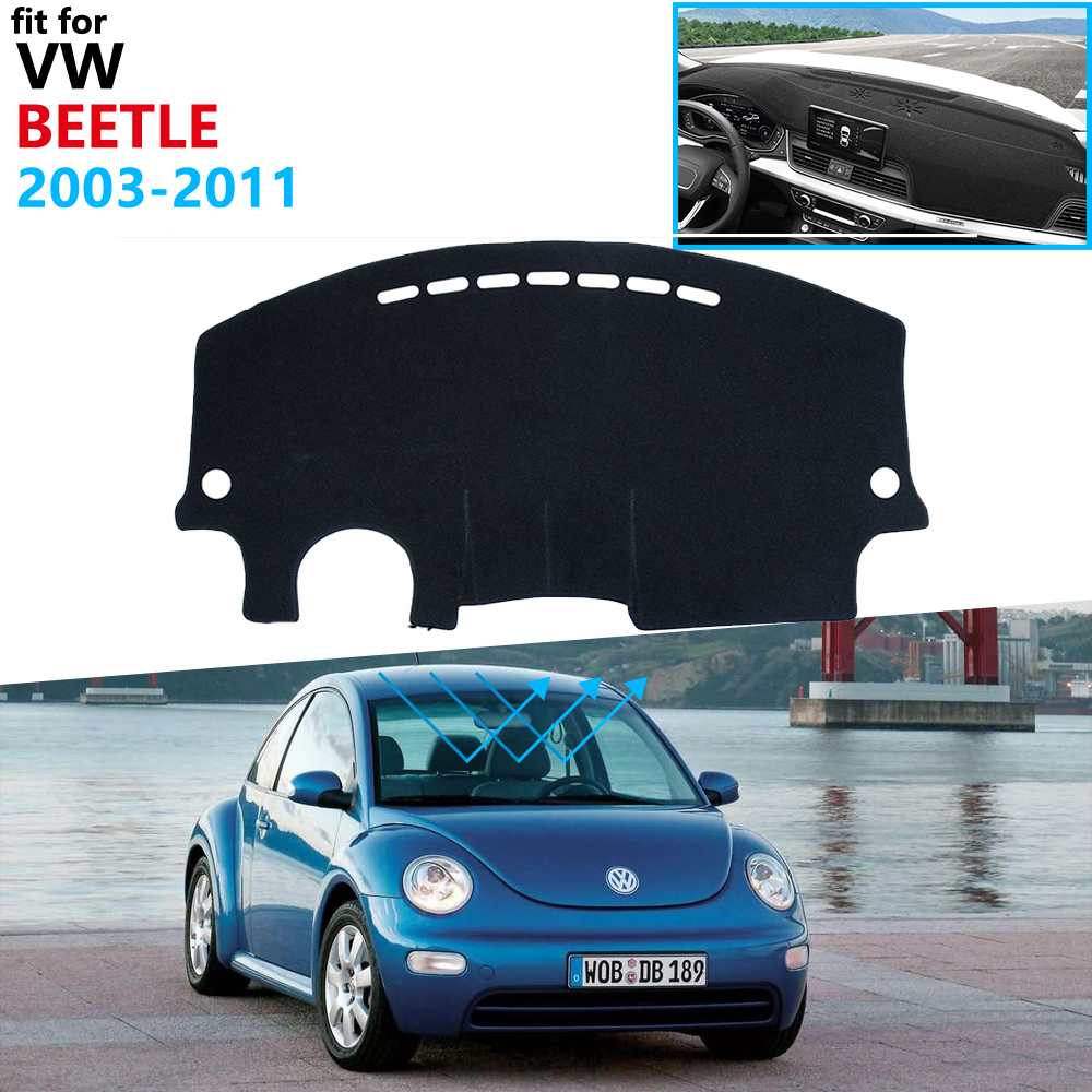 Защитная накладка на приборную панель для Volkswagen VW New Beetle 2003 ~ 2011 Beetle A5, аксессуары, антиуф-коврик от солнца