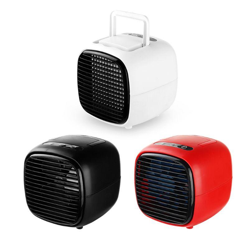 Portable Mini Fan USB Humidifier Air Conditioner Desktop Bedroom Home Office Cooler Tool