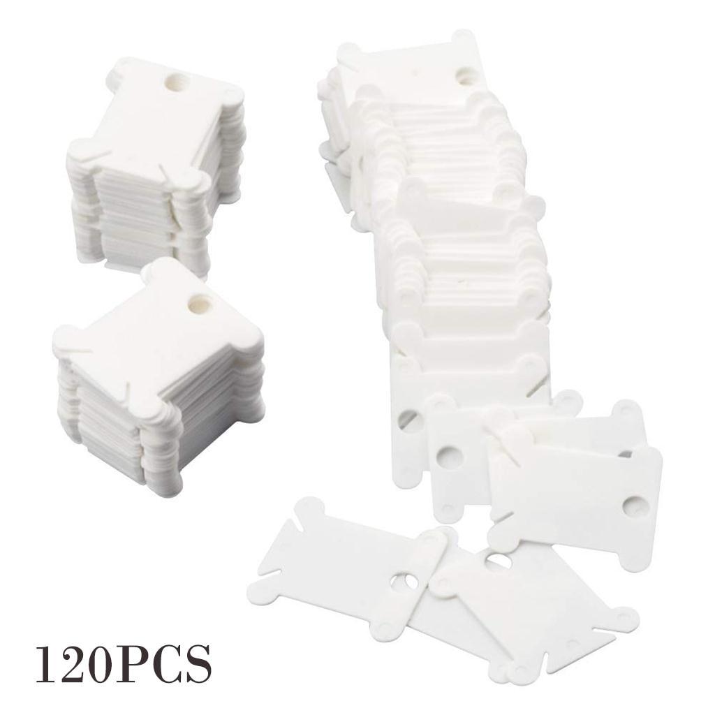 120 pièces en plastique fil bobines pour broderie soie organisateur couture outils bricolage point de croix stockage titulaire carte fil titulaire