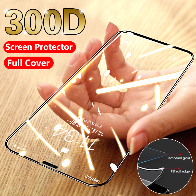 Soft Side Full Curved Tempered Glass On The For IPhone 11 Pro 7 6 8 Plus Screen Protector Protective Glass On IPhone XR X XS MAX