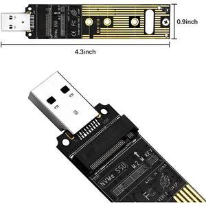 Image 2 - M.2 nvme ssd usb 3.1アダプタ高速検索とのバックアップデータpci e usbタイプa 3.0内部コンバータカード