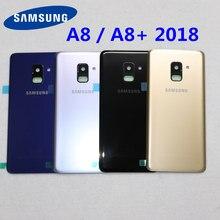 Крышка аккумулятора SAMSUNG Galaxy A8, A530, A530F, A8 Plus, A730 задняя стеклянная