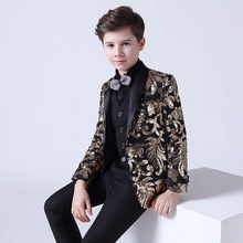 Boy's Suits 5 Pieces Beach Wedding Tuxedos For Kid Shawl Lapel Formal Prom Suit Little Boys Formal Wear