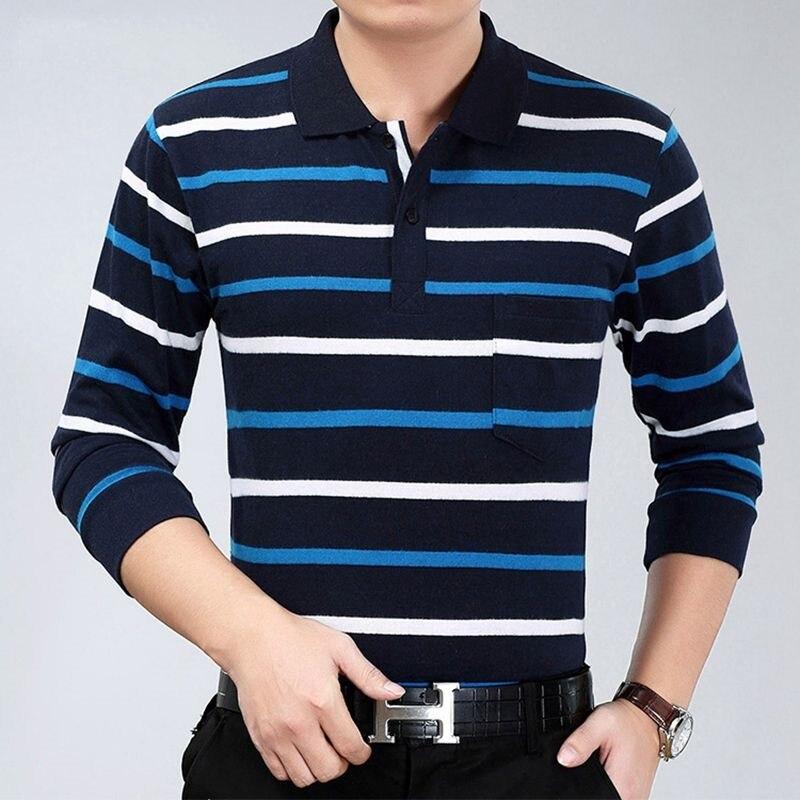 Polo à manches longues pour homme 100% coton, couleur unie, décontracté coton, de haute qualité, 2020