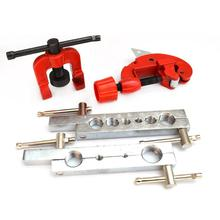 Pipe Riveter Pipe Expander Expansion Set Double Flaring Brake Line Tool Kit Tubing Car Truck Tool With Mini Pipe Cutter
